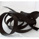 by the METRE BLACK Satin Ribbon 10mm wide