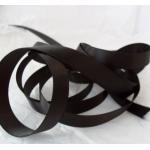 25m Reel BLACK Satin Ribbon 10mm wide