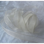 25m Reel.  ORGANZA RIBBON.  9mm Wide.  IVORY