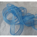 25m Reel.  ORGANZA RIBBON.  15mm Wide.  FRENCH BLUE (Col.74)