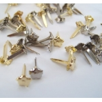 Mini FLOWER BRADS, Gold & Silver