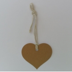 Luggi Handcrafted Tags.  12 Rustic Country Heart Tags,  MANILLA Tan