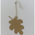Luggi Handcrafted Tags. 12 Rustic LEAF Shaped Tags in MANILLA Tan