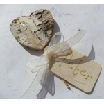 6 Natural Birchwood Heart Shaped Picks. Perfect Foral/Wedding decor