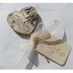 6 Natural Birchwood Heart Shaped Picks. Perfect Foral/Wedding decor