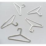 15 Diecut Mini COAT HANGERS - Silver.