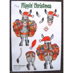 La Pashe Flippin' Christmas DONKEY Decoupage, 2 x A4 sheets