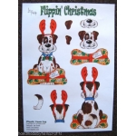 DOG Flippin' Christmas Decoupage 2 sheet pack