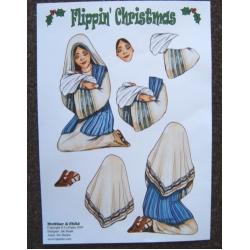 Flippin' Christmas Decoupage MOTHER & CHILD