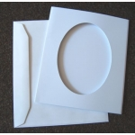 Flippin' APERTURE CARDS. Small Oval Pack of 2 with Envelopes