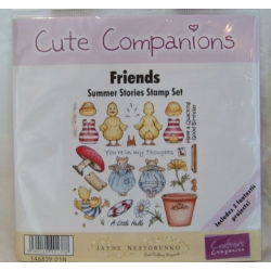 Unmounted Rubber Stamps Set CUTE COMPANIONS Summer Stories FRIENDS