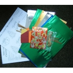 Christmas Cracker Kit. Includes everything to make 6 crackers, instructions inc.