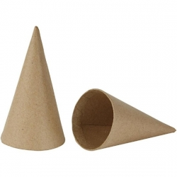 Paper Mache CONE 14cm x 7cm PACK 5