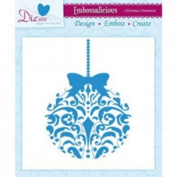 Embossalicious CHRISTMAS ORNAMENT 6 X 6 Embossing Folder Die-sire