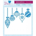 Embossalicious CHRISTMAS BAUBLES 8 X 8 Embossing Folder Die-sire