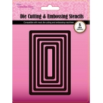 Crafts Too, Die Cutting & Embossing Stencils Nesting Set of 5, Rectrangles
