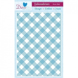Embossalicious PICNIC PLAID A4 Embossing Folder Die-sire