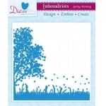Embossalicious SPRING MORNING 6 X 6 Embossing Folder Die-sire