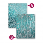 Spellbinders M-Bossabilities TWEETS AND TWIGS 5x7 Reversible Embossing Folder