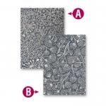 Spellbinders M-Bossabilities WHIMSICAL FLORA 5x7 Reversible Embossing Folder