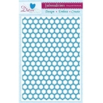 Embossalicious HONEYCOMB PATCHWORK  A4 Embossing Folder Die-sire