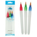 Pack of 3 AQUA BRUSHES, 3 sizes, Ideal blending watercolour