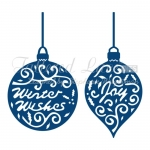 Tattered Lace Die GREETING BAUBLES