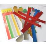 Christmas Paper Chains, Shiny Foil Gummed Strips