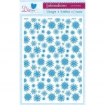 Embossalicious LET IT SNOW A4 Embossing Folder Die-sire