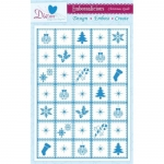 Embossalicious CHRISTMAS PATCHWORK A4 Embossing Folder Die-sire