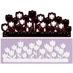 Crafts Too, Die Cutting & Embossing Stencil, TULIP GARDEN