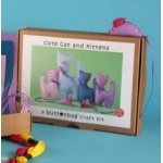 CUTE CAT & KITTENS Sewing Kit.  Contains all you need to make 4 Cats and 2 Mice