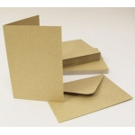 30 Card Blanks & C6 Envelopes BROWN KRAFT. 149mm x 105mm