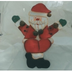 Shelf or Mantlepiece Sitting SANTA Wooden Christmas Decoration
