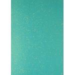 A4 Sheet GLITTER CARD.  Peacock Blue