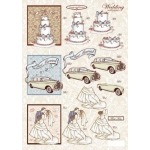 3D Toppers/Decoupage Sheet. DieCut. WEDDING Wallpapers (No.841)