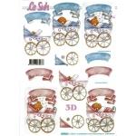 3D Decoupage Sheet.  NEW BABY Boy & Girl. 4169.66