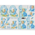 3D Decoupage Sheet NEW BABY BOY and 1ST BIRTHDAY