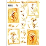 3D Decoupage Sheet.  LILLIES SYMPATHY 777022