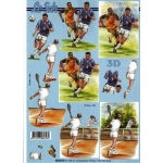 3D Decoupage Sheet FOOTBALL and TENNIS