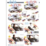 3D Decoupage Sheet, DRIVING TEST PASS