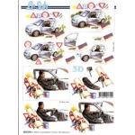 3D Decoupage Sheet, DRIVING TEST PASS