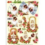 3D Decoupage Sheet.  CONFIRMATION, HOLY COMMUNION