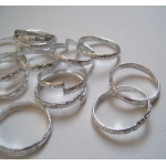 20 Ornate Metal Rings. 20mm. SILVER.
