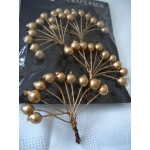 Pack of Large Wired BERRIES, GOLD