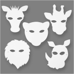 Pack of 16 JUNGLE Animal Masks 5 designs