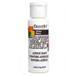 DecoArt Crafter's Acrylic Paint  59ml, White Blanc