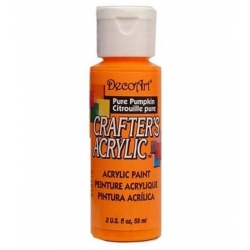 DecoArt Crafter's Acrylic Paint  59ml, Pure Pumpkin