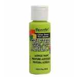 DecoArt Crafter's Acrylic Paint  59ml, Citrus Green
