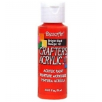 DecoArt Crafter's Acrylic Paint  59ml, Bright Red